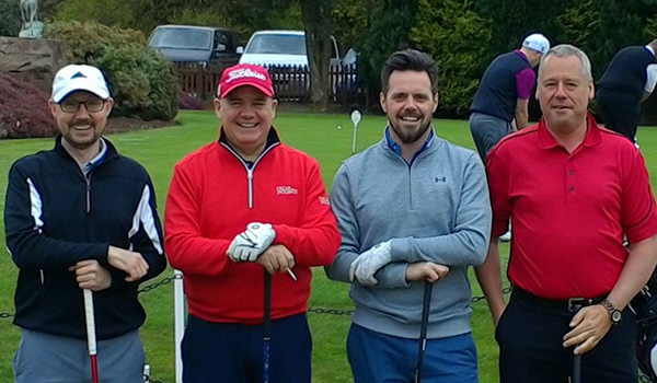 Steve Owen with his winning team representing DPC at the Alice Charity Golf Day