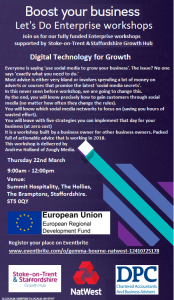 Free business event in Staffordshire