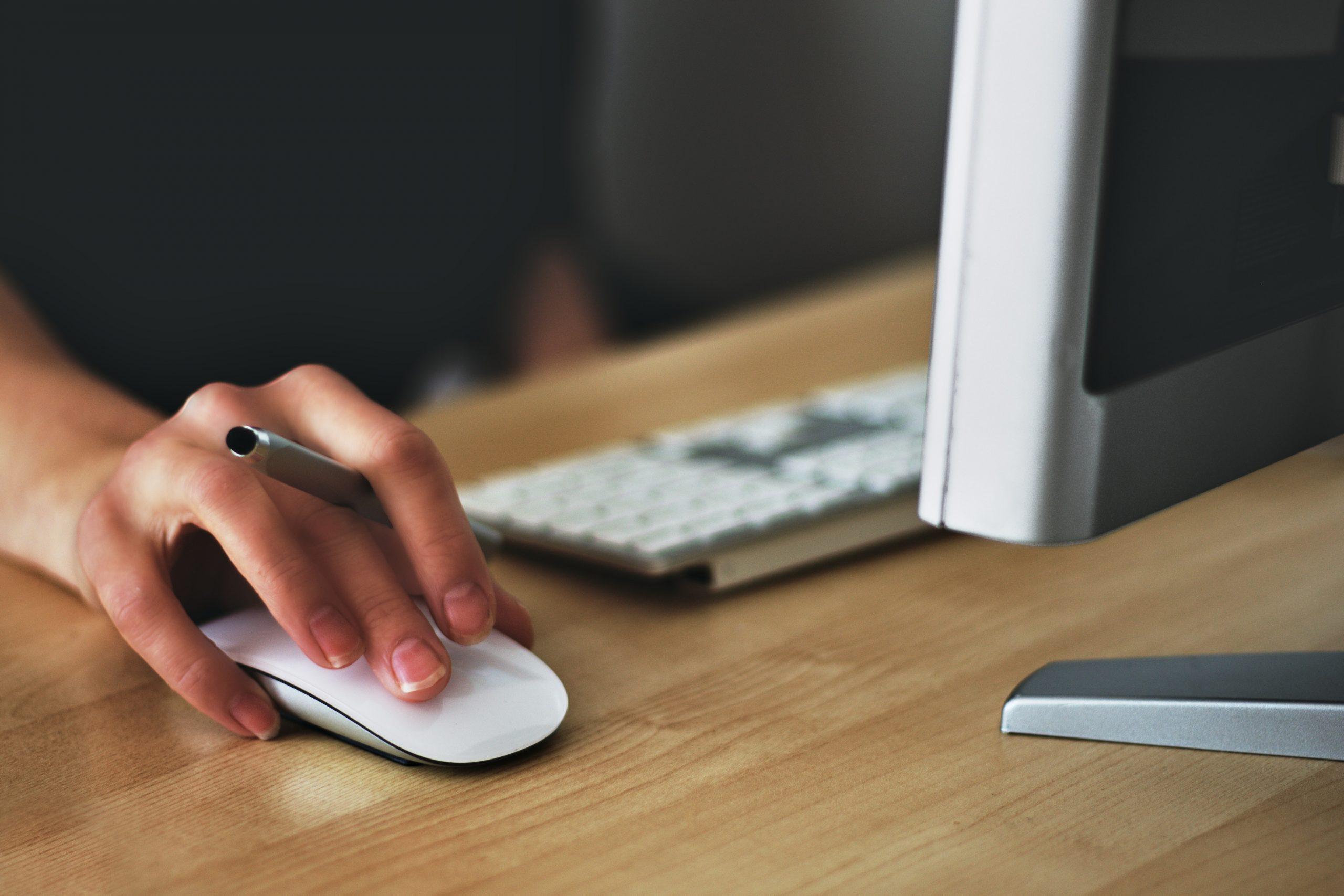 Computer at a desk